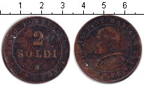 Изображение Монеты Ватикан 2 сольдо 1866 Медь XF