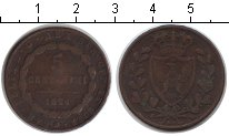Изображение Монеты Сардиния 5 сентесим 1826 Медь VF SARDINIA
