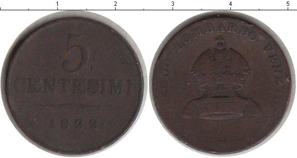 Картинка Монеты Ломбардия 5 сентесим Медь 1822
