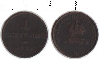 Изображение Монеты Ломбардия 1 чентезимо 1822 Медь XF