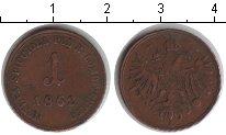 Изображение Монеты Ломбардия 1 сольдо 1862 Медь XF