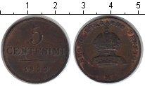 Изображение Монеты Италия 5 сентесим 1822 Медь XF