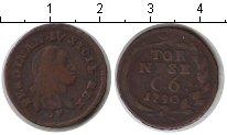 Изображение Монеты Сицилия 6 кавалли 1790 Медь XF Фердинанд IV