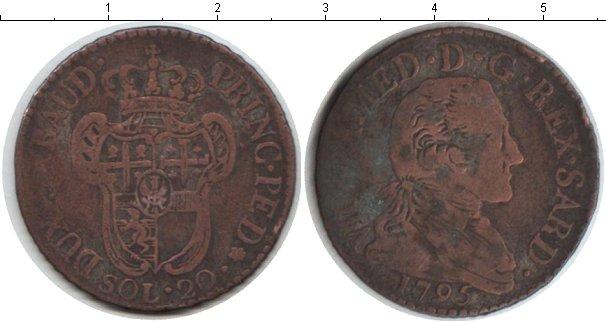 Картинка Монеты Сардиния 20 сольдо Серебро 1795
