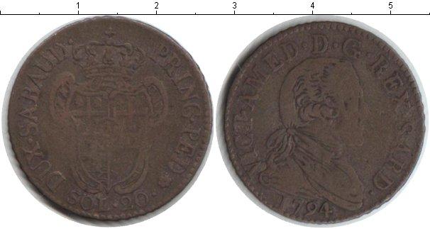 Картинка Монеты Сардиния 20 сольдо Серебро 1794
