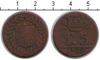 Изображение Монеты Италия 5 торнеси 1798 Медь