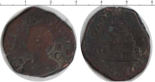 Картинка Монеты Испания 4 мараведи Медь 1629