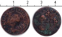 Изображение Монеты Сардиния 1 каглиаресе 0 Медь  17 век