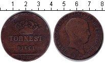 Изображение Монеты Италия 10 торнези 1826 Медь