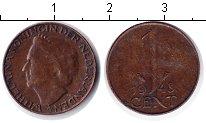 Изображение Монеты Нидерланды 1 цент 1948 Медь VF Вильгельмина