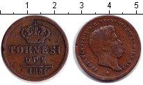 Изображение Монеты Италия Сицилия 2 торнеси 1854 Медь