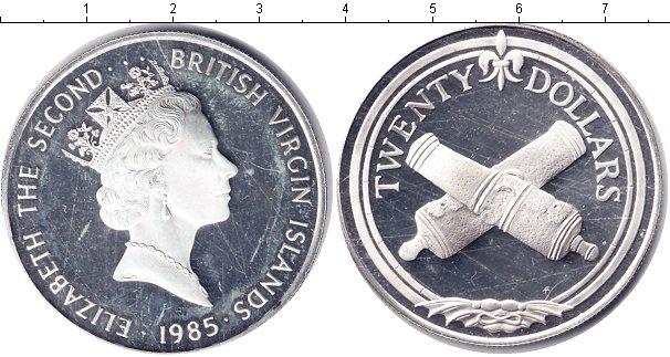 Картинка Монеты Виргинские острова 20 долларов Серебро 1985