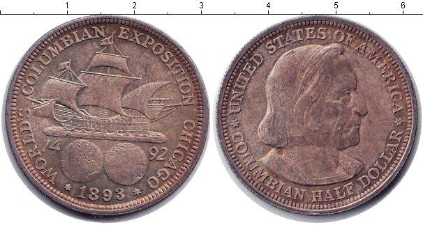 Картинка Монеты США 1/2 доллара Серебро 1893