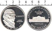 Изображение Монеты США 1 доллар 1993 Серебро Proof- Джеймс Медисон