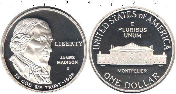 Картинка Монеты США 1 доллар Серебро 1993