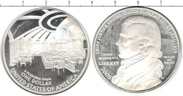 Картинка Монеты США 1 доллар Серебро 2005