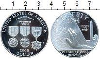 Изображение Монеты США 1 доллар 1994 Серебро Proof- Мемориал Ветеранов В