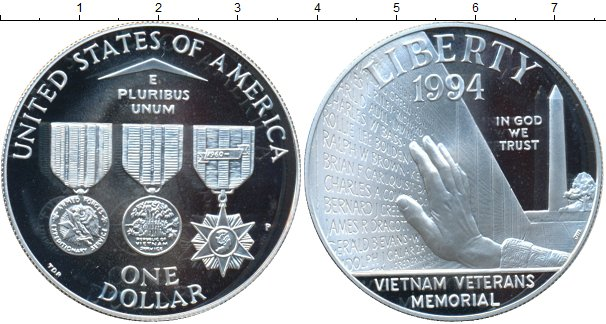 Картинка Монеты США 1 доллар Серебро 1994