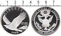 Изображение Мелочь США 1 доллар 2008 Серебро Proof-