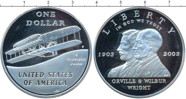 Картинка Монеты США 1 доллар Серебро 2003