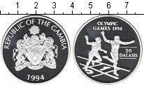 Изображение Монеты Гамбия 20 даласи 1994 Серебро Proof- Олимпийские игры 199