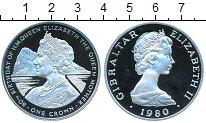 Изображение Монеты Гибралтар 1 крона 1980 Серебро Proof- Елизавета II