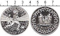 Изображение Монеты Суринам 25 гульденов 1990 Серебро Proof- Италия 1990