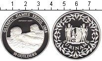 Изображение Монеты Суринам 50 гульденов 1988 Серебро Proof- Сеул 1988