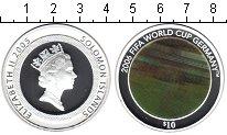 Изображение Монеты Соломоновы острова 10 долларов 2005 Серебро Proof- FIFA 2006 Германия