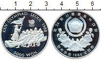 Изображение Монеты Южная Корея 5000 вон 1986 Серебро Proof- Сеул 1988