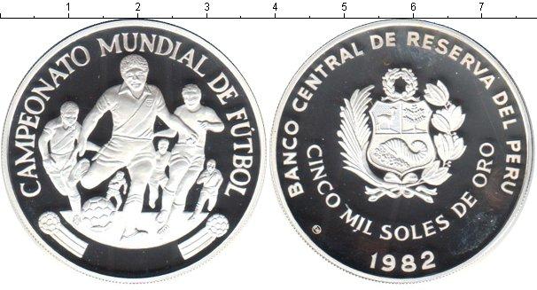 Картинка Монеты Перу 5.000 соль Серебро 1982