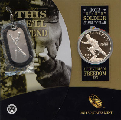 Изображение Подарочные наборы США Мы защитим! 2012 Серебро Proof Подарочная монета по