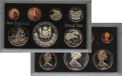 Изображение Подарочные монеты Новая Зеландия Выпуск монет 1983 1983  Proof Набор состоит из 7 м