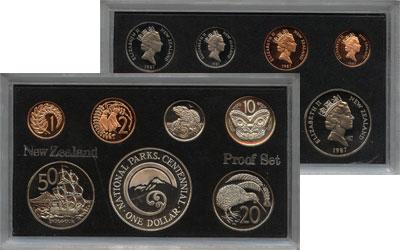 Изображение Подарочные монеты Новая Зеландия Выпуск монет 1987 1987  Proof Набор состоит из 7 м