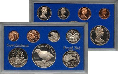 Изображение Подарочные монеты Новая Зеландия Выпуск монет 1982 1982  Proof Набор состоит из 7 м