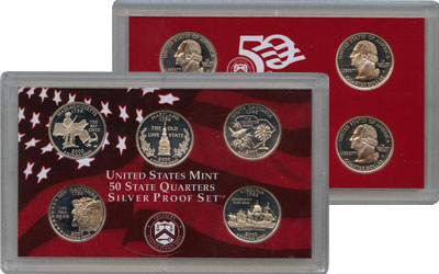 Изображение Подарочные наборы США Серебряные квотеры 2000 2000 Серебро Proof-