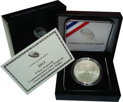 Изображение Подарочные монеты США Генералы 2013 Серебро UNC Подарочная монета по