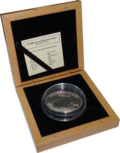Изображение Монеты Монголия 500 тенге 2005 Серебро Proof Подарочная монета по