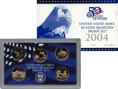Изображение Подарочные наборы США Памятные четвертаки 2004 Медно-никель Proof Представляем Вам наб