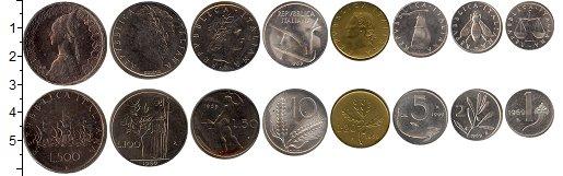 Изображение Подарочные наборы Италия Италия 1968 1968   В наборе 8 монет ном