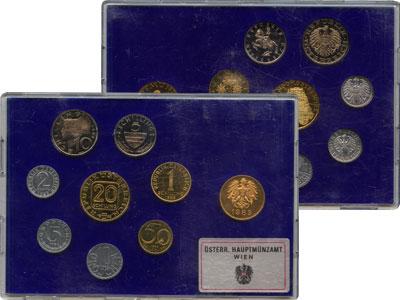 Изображение Подарочные монеты Австрия Набор монет 1983 1983  Proof Выпуск монет 1983 го