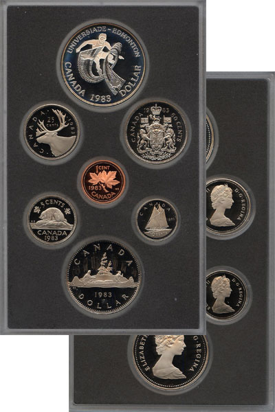 Изображение Подарочные монеты Канада Памятный набор 1983 1983  Proof В наборе 7 монет Кан