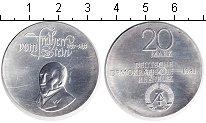 Монета ГДР 20 марок Серебро 1981 UNC- фото