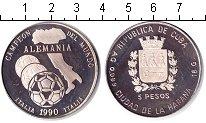 Изображение Монеты Куба 5 песо 1990 Серебро Proof- Италия 90