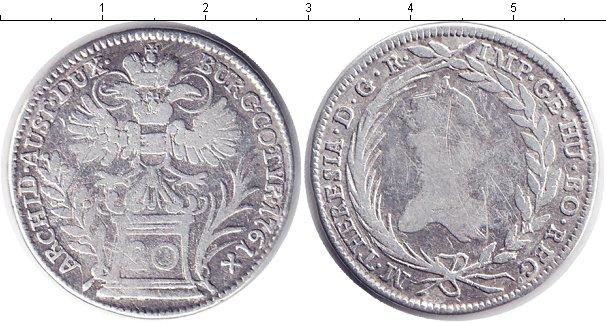 Картинка Монеты Австрия 20 крейцеров Серебро 1761