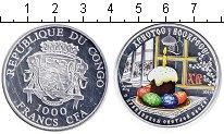 Изображение Мелочь Конго 1000 франков 2011 Серебро Proof