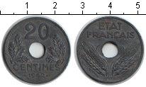Изображение Мелочь Франция 20 сантимов 1941 Цинк