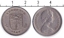 Изображение Мелочь Родезия 10 центов 1964 Медно-никель XF Елизавета II