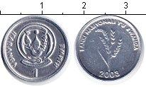 Изображение Мелочь Руанда 1 франк 2003 Алюминий XF