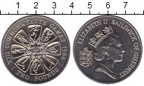 Изображение Мелочь Гернси 2 фунта 1986 Медно-никель UNC-